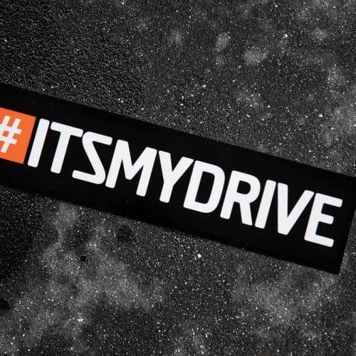 #ITSMYDRIVE sticker (2)